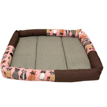Pet Puppy Dog Bed House Sofa Mat Cooling Pad Cushion Cama De Cachorro Hot Pink Pet Products Beds For Small Dogs Kennel QQM1690(China)