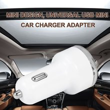 Universal Mini Vehicle 12V 24V DC Dual 2 Port USB Car Power Charger Adapter for Mobile phone For iPhone4 4S 2.0 V(China)