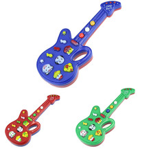 Color Random Cute Cartoon Guitar Animal Electronic Guitar Toy Nursery Rhyme Music Children Baby Gift Toy Guitar Instrument b#