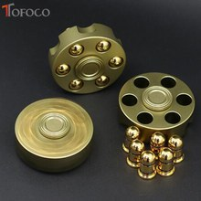 TOFOCO Fidget Spinner Metal Revolver Figet Spinner For Hand Spinner Gift Cube ANTI Stress Finger Spiner Spynner(China)