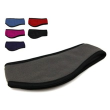 10pcs/lot Polar Fleece Headband With Ear Warmers Headbands Unisex No Sticker Style