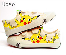 Uovo Spring Autumn Children Shoes Fashion Minions Kids Baby School Shoes Boys Pikachu Girls Sneakers High Top Cartoon Shoes Yxx