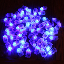 50pcs/lot Blue LED Lamps Balloon Lights for Paper Lantern Balloon White or Multicolor Christmas Party Decoration natale(China)