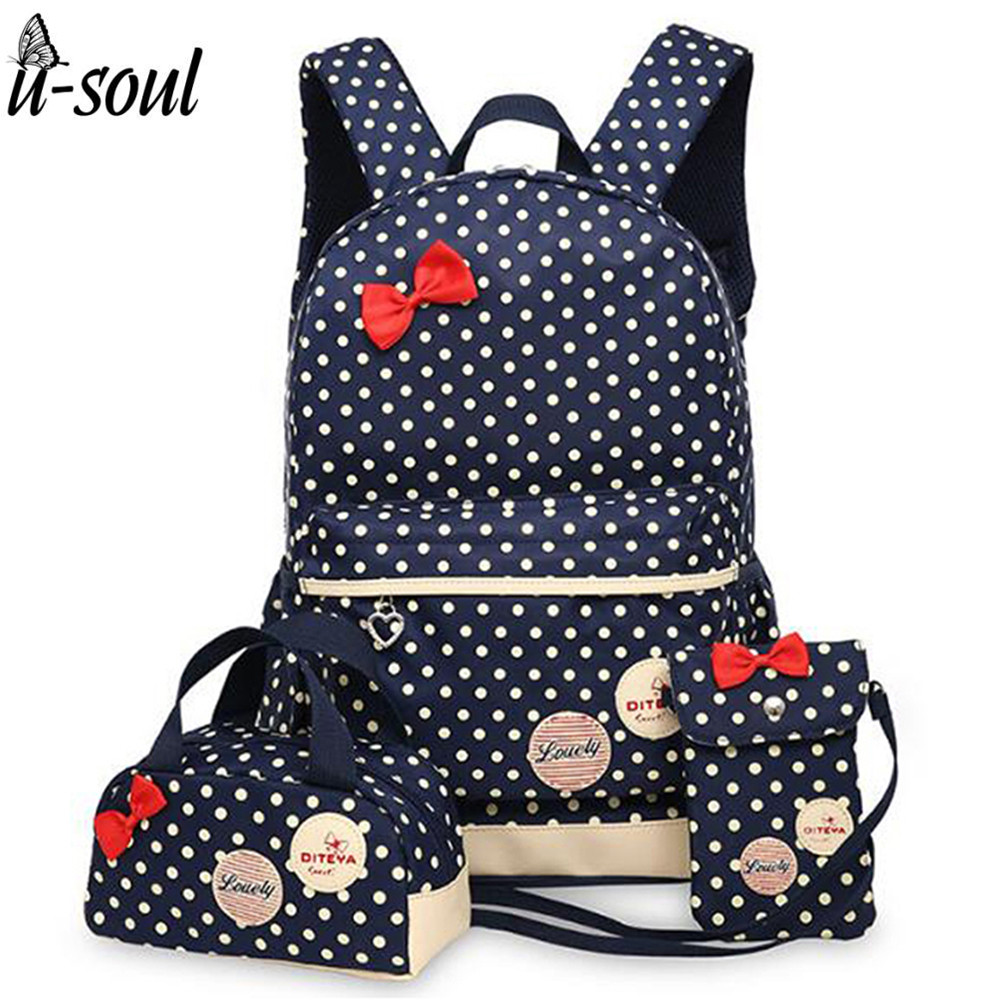 korean cute printing backpack women school bags for teenage girls cute bookbags vintage laptop backpacks female SC0343(China (Mainland))