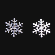 (S0795)10pcs/lot, 25mm rhinestone embellishment,snowflake shape,crystal cluster,silver plating,flat back(China)