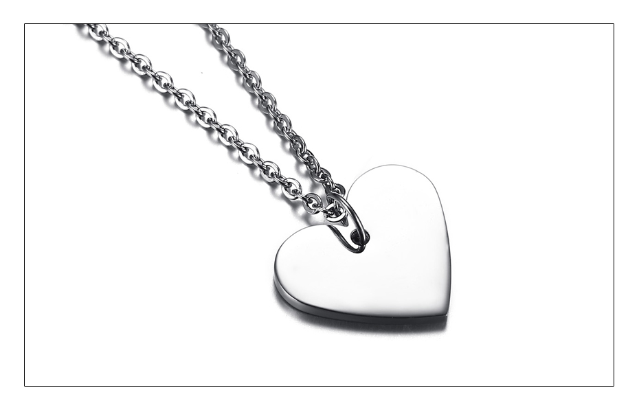 Meaeguet Personalized Stainless Steel Couple Heart ID Necklace Pendant Wedding Jewelry For Women Men Free Laser Engrave Collar (4)