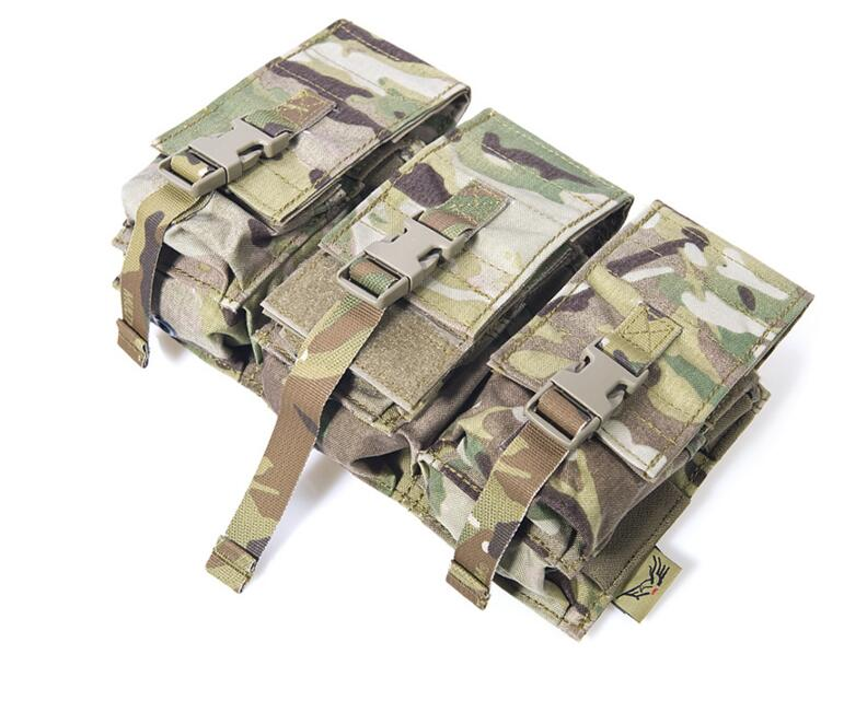 Genuine FLYYE MOLLE Combo Tri-M4/Dual 9mm MAG Pouch In stock Military camping modular combat CORDURA M031<br>