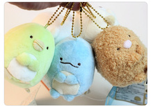 8cm Japan Sumikkogurashi plush toy pendant, peluche Sumikko gurashi small pendant bag ornaments