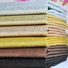 100x130cm Glitter Leather Synthetic Rainbow Reflective Fabric For Wedding Decroation Metallic Gold Artificial Leather Cloth(China)