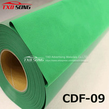 CDF-08 Green flocking transfer pu for shirts, heat transfer flock PU Vinyl for garment with free shipping size:50CMX100CM/LOT