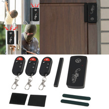 LESHP Smart Magnetic Sensor Remote Control Wireless Door Window Voice Alarm Home House Entry Burglar Security System 110db Black(China)