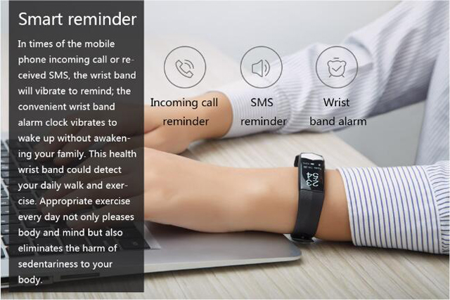 CD01 Graphene ECG HeartRate Blood Pressure Smart Bracelet for iphone Android Sleep Pedometer Activity Tracker Call SMS Reminder 13