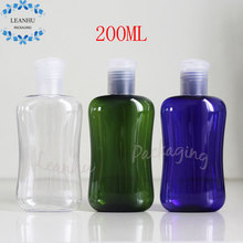 Empty PET Squeeze The Bottle,Children's Shampoo, Shower Gel Packing Container,200ml Airless Cosmetic Bottles With Flip Top Cap