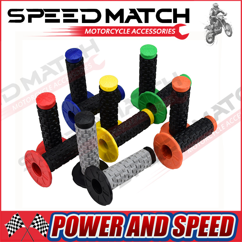 Pro Taper Motorcycle MX Dirtbike Offroad Clamp-On Full Diamond Grips All Colors