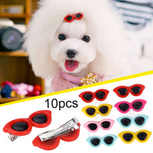 10Pcs Pet Dog Cat Puppy Hair Clips Sunglasses Design Colorful Grooming Access Mascotas Cachorro Chien Perros Honden Hond