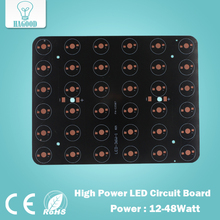 free shipping 12W 18W 20W 24W 30W 36W 48W Rectangle LED Aluminum Plate / High Power LED Circuit Board / Heat Plate PCB