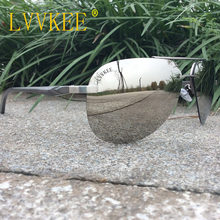 lvvkee Aluminum Magnesium frame Spring hinge Polaroid Lens Women Polarized sun glasses Men Rimless pilot Aviator sunglasses(China)
