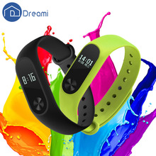 Dreami Original Xiaomi Mi Band 2 Smartband OLED Display Screen Heart Rate Monitor Sleep Step Tracker Call Message Reminder