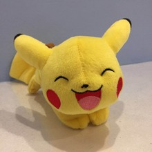 "Pikachu 8"" Plush [Laying Down, Closed Eyes, Open Mouth],Quality goods Soft Stuffed Plush Toy Free Shipping(China)"