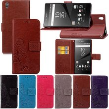 Funda Clover Case Sony Xperia X XA XZ Z2 Z3 compact Z4 Z5 mini Case Leather Cover Luxry Flip Capa Phone Bag Cover case