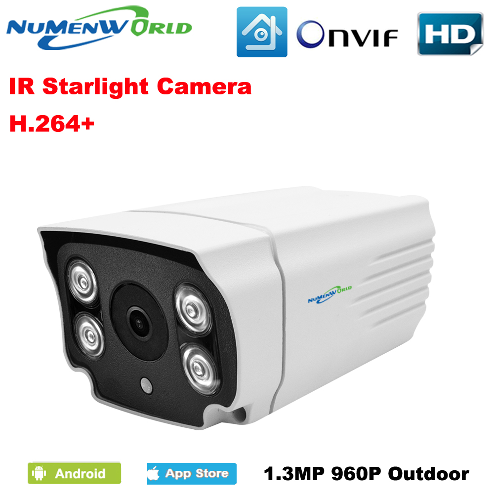 NuMenworld 960P IP camera Starlight Intelligent Infrared Outdoor Waterproof Camera Supports P2P ONVIF h.264+ mobile phone view<br>