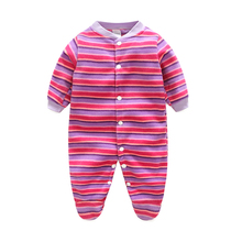 Autumn Winter Infant Baby Clothes Cartoon Baby Rompers Clothing Polar Fleece Newborn Boy Girl Next Body Baby Jumpsuit Costume(China)