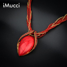 iMucci 13 Color Fashion Bohemian Necklace Simple Elegant Beautiful Women Jewelry Turquoises Water Drop Necklaces for Women Gift