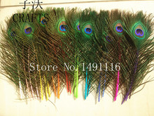 New! 10 pc quality natural peacock feathers, 10-12inches / 25-30cm DIY-  wedding, living room, decorated flower vase