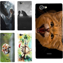 Cat Oil Painting design Hard Plastic Case For Sony Xperia J St26i 4.0 inch Cell Phone Cover Protective Sleeve Funda carcasa Para