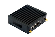 Pfsense Nano Mini itx Celeron N2806 Barebone Mini Computer Ubuntu linux Firewall Router x86 Fanless Small industrial Mini PC(China)