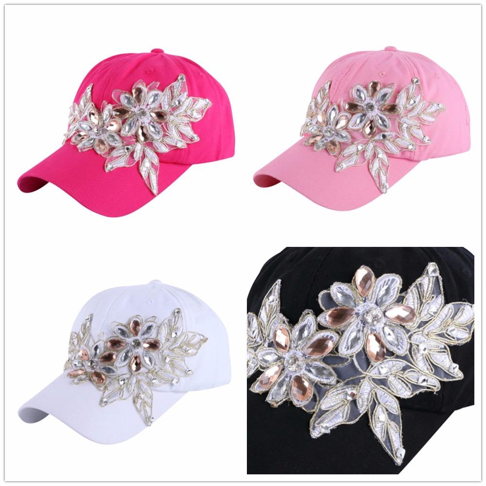 High Quality WOMEN brand baseball cap new fashion rhinestone crystal denim snapback caps wholesale woman hip hop snapbacks hats 11
