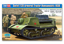 "Hobby Boss 1/35 scale tank models 83847 Soviet T-20 "" Communist Youth League & Tractor 1938(China)"