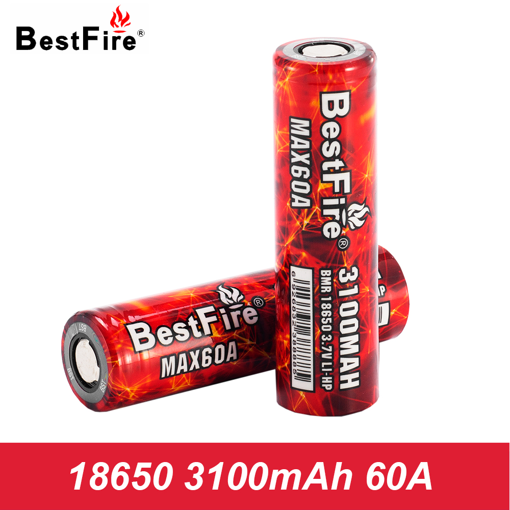 18650 Rechargeable Battery Bestfire Li-ion 3100mAh E Cigarette Battery 18650 Eleaf iStick Pico 75W Kit TC Vape Box Mod A135