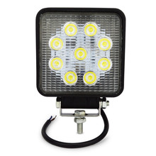 4inch 27w led work light flood spot near far led work lamp for Tractor Boat Off-Road 4WD 4x4 led light work driving light(China)