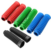 1 Pair Motorcycle Rubber Front Fork Cover Protector Gaiters Boot Gaitor For Harley Red Black Green Blue