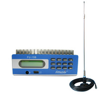 FU-15B FM Transmitter radio broadcast and car sucker FM antenna with power adapter A KIT(China)