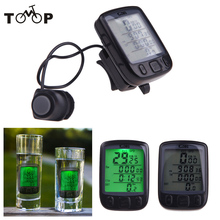 28 Function Waterproof Wireless LCD Bike Bicycle Cycling Computer Odometer Speedometer Backlight Backlit Computer
