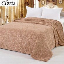 CLORIS Moscow Deliver Luxury Brand Comfortable Blanket Sofa Plaid Throws Coral Travel Quilt Cover Bedding Bedspreads King Size