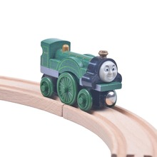 Fashion baby toys Wooden Tomas and Friends railway train track set Emily Train head