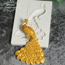 Yueyue Sugarcraft Peacock Silicone mold fondant mold cake decorating tools chocolate gumpaste mold(China)