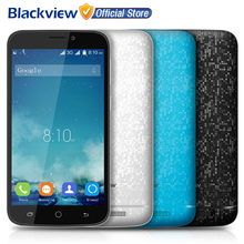 Blackview A5 Mobile Phone 4.5 inch 854x480 IPS MTK6580 Quad Core Android 6.0 1GB RAM 8GB ROM 5MP CAM 3G WCDMA Dual SiM Cellphone
