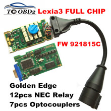 DHL FREE! Lexia3 Full Chip Best 921815C Reference 12Relay 7Optocouplers Original Chip Lexia 3 PP2000 Professional Diagbox 7.76(China)