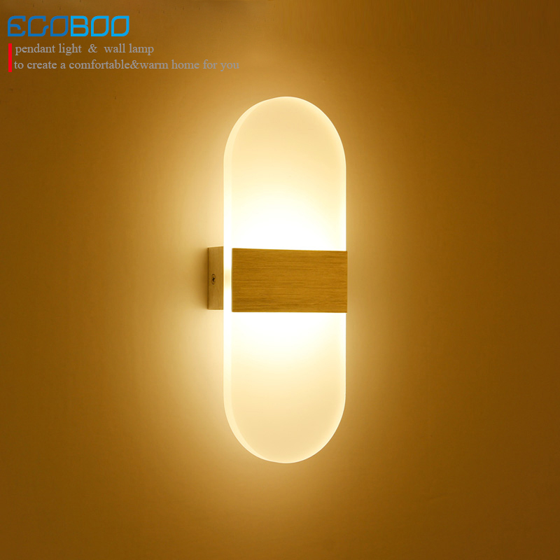 EGOBOO Modern 6W Aluminum Led indoor wall lamps Surface Mounting Decoration Sconces Wall Lighting Fixtures Silver / Black / Gold