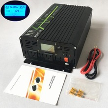 Ship from US 1000W Power Inverter Peak 2000W 12V/24V DC to 120V AC 60HZ Off Grid Pure Sine Wave with LCD Display USB Port USA(China)