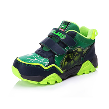 Disney Children's The Hulk Iron Man Cartoon Pattern Shoes Sneakers Captain America Spider-Man Boys Fashion Shoes Size28-33DS0909(China)