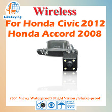Wireless 1/4 Color CCD Rear View Camera Wireless Parking Camera For Honda civic 2012 / Accord 2008 Night Vision / 170 Degree