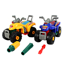 DIY Baby Toy Motorcycle Disassembly Assembly Toy Beach Motorcycle Model Kids Educational Toy Children Models & Building Toy(China)