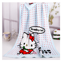New Arrival 100% Cotton Printed Swimming Towel Travel Blanket Bath Towel Hello Kitty Beach Towel Soft Absorbent 68x130cm D15(China)