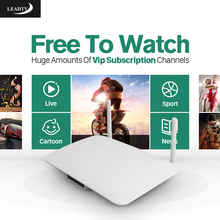 Android 4.4 Smart IPTV Set Top Box RK3128 1G 8G with Leadtv Free IPTV Subscription Full Europe Arabic French 700 Channels TV Box