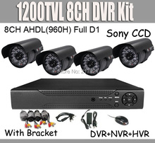 1080P HDMI 8CH CCTV System 1200TVL Sony CCD DVR Kit Waterproof Camera System xmeye P2P Cloud mobile phone view